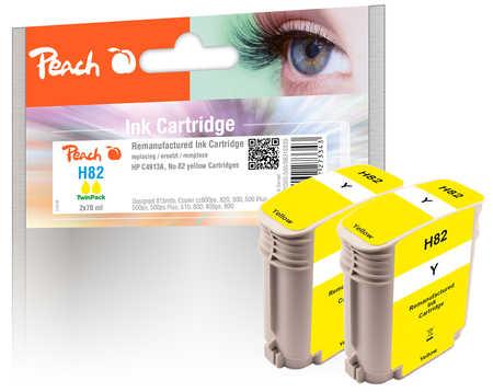 Peach  Doppelpack Tintenpatronen gelb kompatibel zu HP DesignJet 500 E