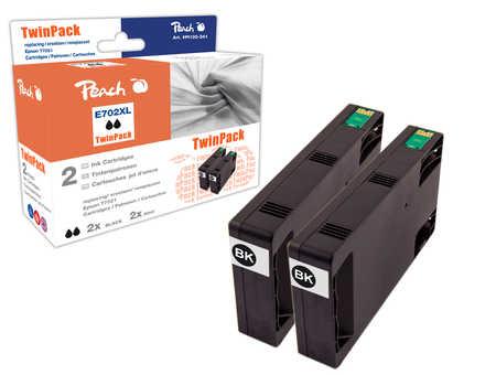 Peach  Doppelpack Tintenpatronen schwarz kompatibel zu Epson WorkForce Pro WP-4095 DN