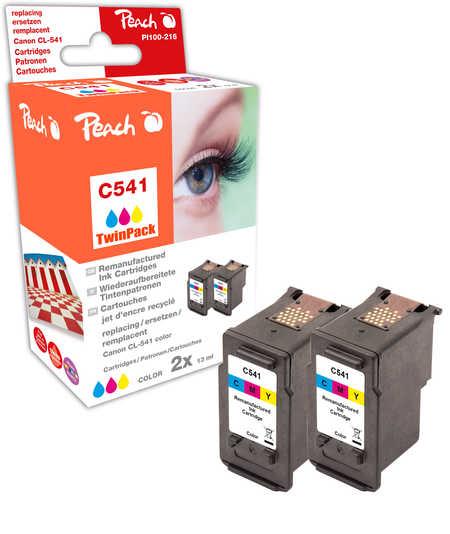 Peach  Doppelpack Druckköpfe color kompatibel zu Canon Pixma MG 2250