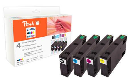 Peach  Spar Pack Tintenpatronen kompatibel zu Epson WorkForce Pro WP-4095 DN