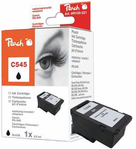 Peach  Druckkopf schwarz kompatibel zu Canon Pixma MG 2455