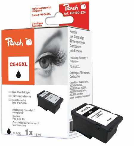 Peach  Druckkopf XL schwarz kompatibel zu Canon Pixma MG 2455