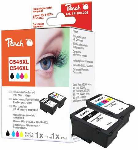 Peach  Spar Pack Druckköpfe kompatibel zu Canon Pixma MG 2455