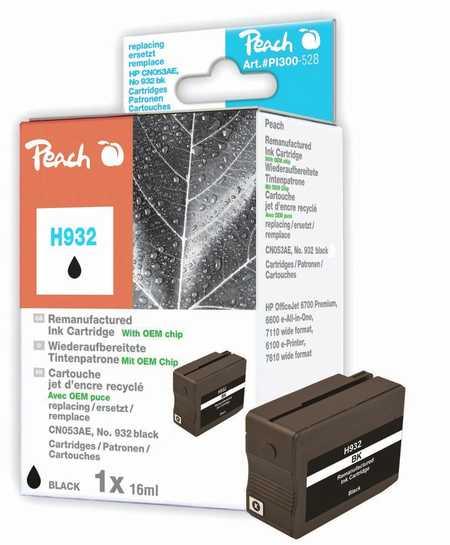 Peach  Tintenpatrone schwarz kompatibel zu HP OfficeJet 6700 Premium