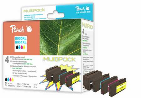 Peach  Spar Pack Tintenpatronen kompatibel zu HP OfficeJet Pro 251 dw