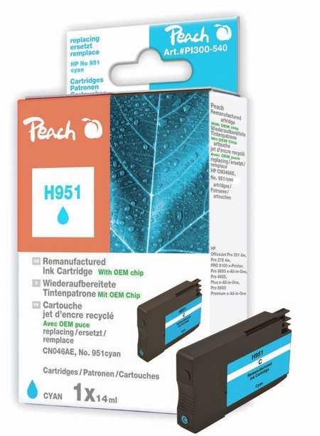 Peach  Tintenpatrone cyan kompatibel zu HP OfficeJet Pro 251 dw