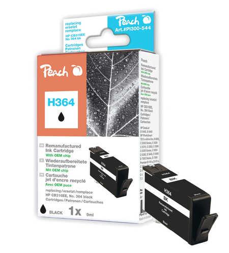 Peach  Tintenpatrone schwarz kompatibel zu HP PhotoSmart Premium C 410 Series