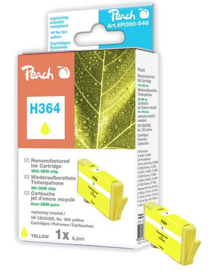 Peach  Tintenpatrone gelb kompatibel zu HP PhotoSmart Premium C 410 Series