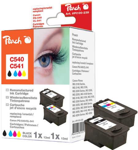 Peach  Spar Pack Tintenpatronen kompatibel zu Canon Pixma MG 2250