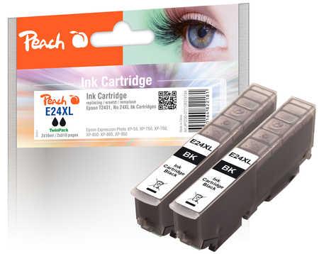 Peach  Doppelpack Tintenpatronen schwarz kompatibel zu Epson Expression Photo XP-950