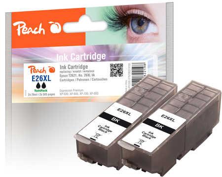 Peach  Doppelpack Tintenpatronen schwarz kompatibel zu Epson Expression Premium XP-700