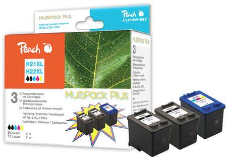 Peach  Spar Pack Plus Druckköpfe kompatibel zu HP OfficeJet 4625