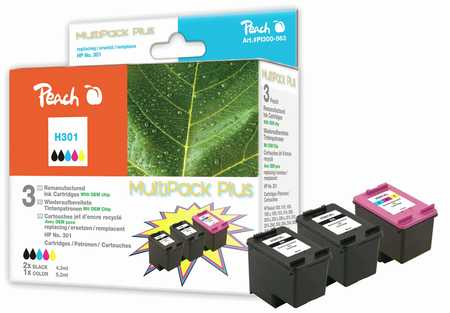 Peach  Spar Pack Plus Druckköpfe kompatibel zu HP DeskJet 2050