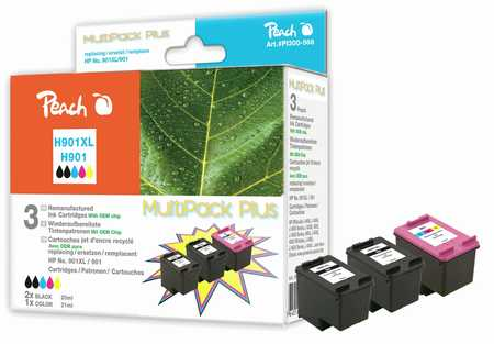 Peach  Spar Pack Plus Druckköpfe kompatibel zu HP OfficeJet J 4540