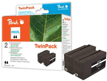 Peach  Doppelpack Tintenpatrone schwarz HC kompatibel zu HP OfficeJet Pro 251 dw