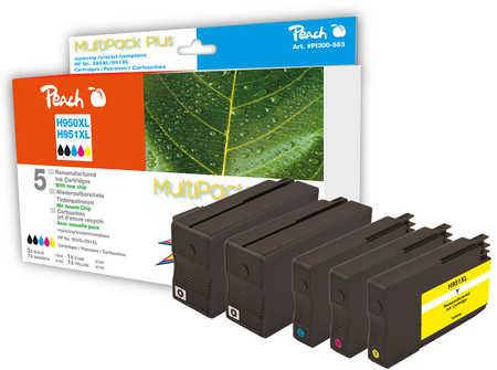 Peach  Spar Pack Plus Tintenpatronen kompatibel zu HP OfficeJet Pro 251 dw