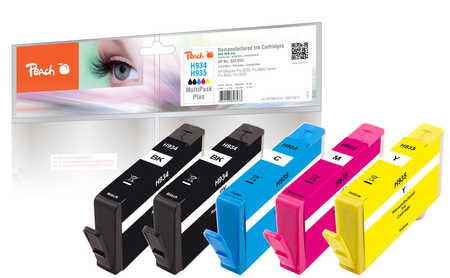 Peach  Spar Pack Plus Tintenpatronen kompatibel zu HP OfficeJet Pro 6230