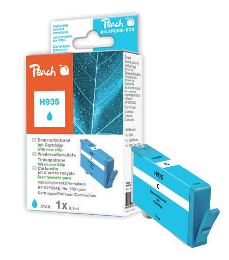 Peach  Tintenpatrone cyan kompatibel zu HP OfficeJet Pro 6230