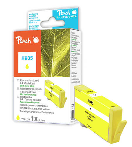 Peach  Tintenpatrone gelb kompatibel zu HP OfficeJet Pro 6230