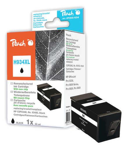 Peach  Tintenpatrone schwarz HC kompatibel zu HP OfficeJet Pro 6230