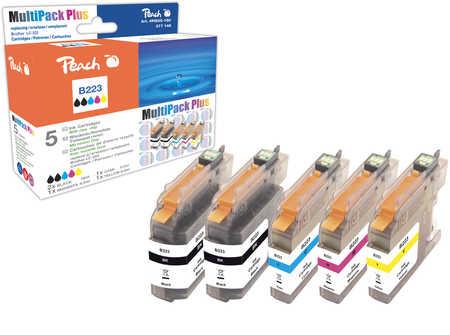 Peach  Spar Plus Pack Tintenpatronen kompatibel zu Brother MFCJ 480 DW