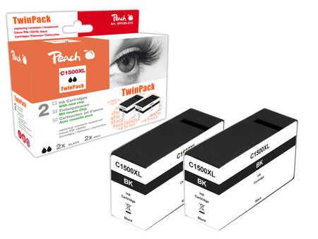 Peach  Doppelpack XL-Tintenpatrone schwarz kompatibel zu Canon Maxify MB 2350