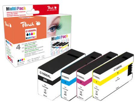 Peach  Spar Pack Tintenpatronen, kompatibel zu Canon Maxify MB 2350
