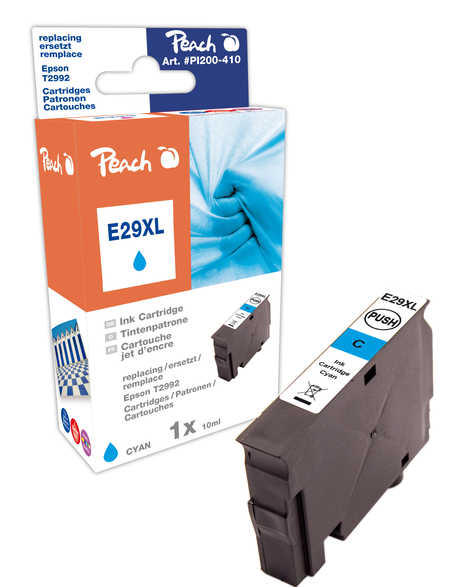 Peach  Tintenpatrone XL cyan kompatibel zu Epson Expression Home XP-452