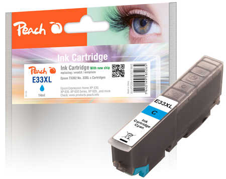 Peach  Tintenpatrone XL cyan kompatibel zu Epson Expression Premium XP-830