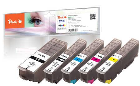 Peach  Spar Pack Tintenpatronen XL kompatibel zu Epson Expression Premium XP-830