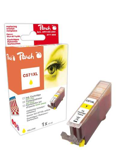 Peach  Tintenpatrone XL gelb kompatibel zu Canon Pixma TS 6050 Series