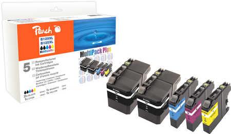 Peach  Spar Pack Plus Tintenpatronen, kompatibel zu Brother MFCJ 6520 DW