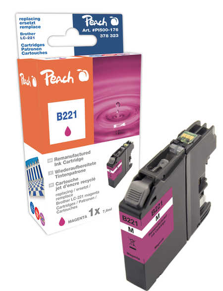 Peach  Tintenpatrone magenta kompatibel zu Brother MFCJ 480 DW