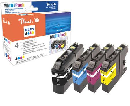 Peach  Spar Pack Tintenpatronen kompatibel zu Brother MFCJ 480 DW