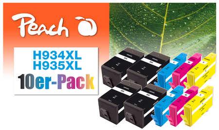Peach  10er-Pack Tintenpatronen kompatibel zu HP OfficeJet Pro 6230