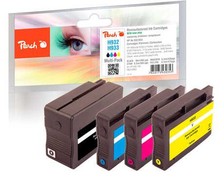 Peach  Spar Pack Tintenpatronen kompatibel zu HP OfficeJet 6700 Premium