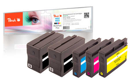 Peach  Spar Pack Plus Tintenpatronen kompatibel zu HP OfficeJet 6700 Premium