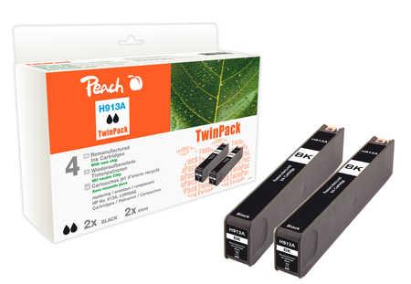 Peach  Doppelpack Tintenpatrone schwarz kompatibel zu HP PageWide Pro 450 Series