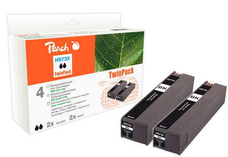 Peach  Doppelpack Tintenpatrone schwarz HC kompatibel zu HP PageWide Pro 450 Series