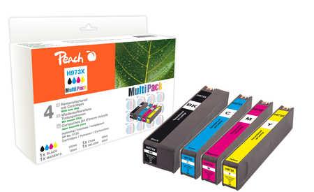 Peach  Spar Pack Tintenpatronen kompatibel zu HP PageWide Pro 450 Series