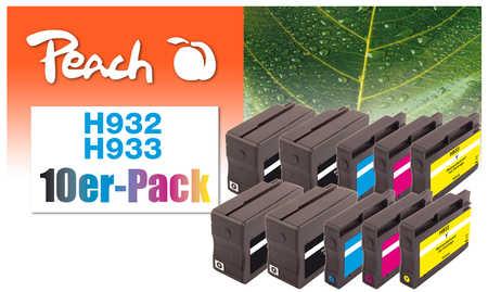 Peach  10er-Pack Tintenpatronen kompatibel zu HP OfficeJet 6700 Premium