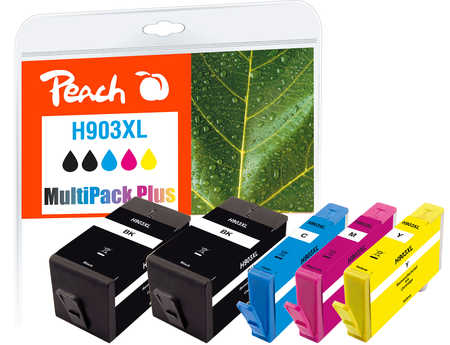 Peach  Spar Pack Plus Tintenpatronen kompatibel zu HP OfficeJet Pro 6975